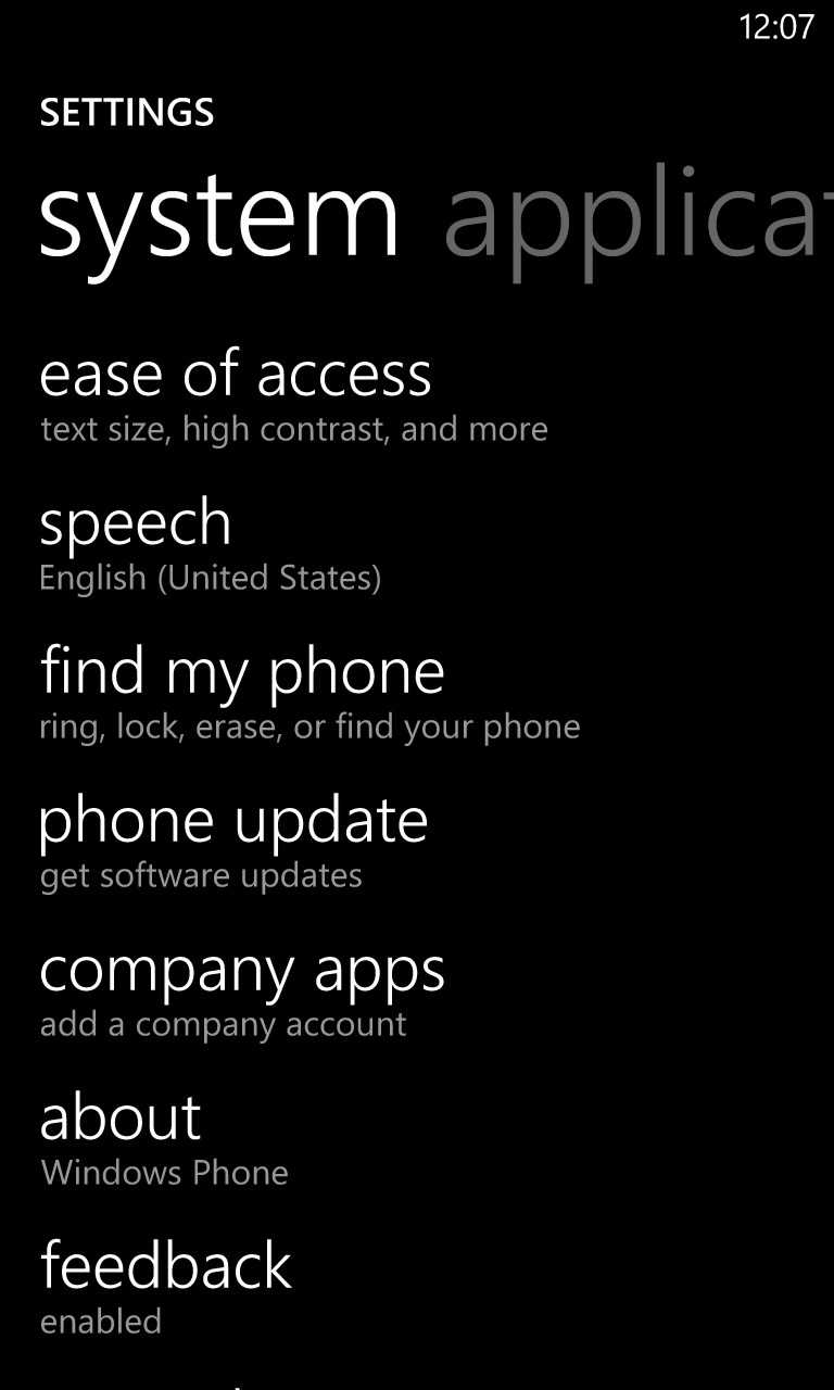 'find my phone' in the settings app in Windows Phone 8